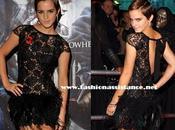 Emma Watson, encaje, transparencias plumas, estreno Londres 'Harry Potter reliquias muerte'