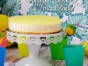 Tarta mousse piña colada horno no-bake pina cake