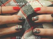 Manimonday Look invernal para uñas: tartan #semanadeltartan Nail