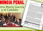 Denuncian penalmente Mario García abuso autoridad asociación delictuosa