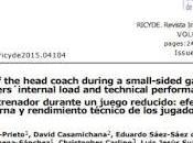 Artículo: presencia entrenador durante juego reducido: efectos sobre carga interna rendimiento técnico
