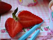 Helado fresas nata