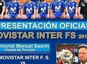 Movistar Inter presenta cartel presentación oficial ante afición Memorial Manuel Saorín