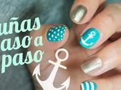 diseños uñas marineras paso