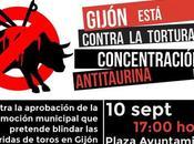 Manifestación antitaurina Gijón, septiembre