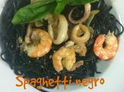 Spaghetti Negro Calamares Langostinos