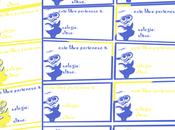 Imprimibles para vuelta cole: etiquetas libros Minions