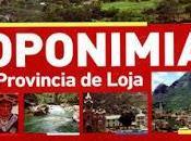 Toponimias provincia Loja. libro Jorge Enrique García Alberca