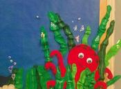 cartelera divertida fondo burbujas funny board under with bubbles)