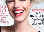 Herzigova todo sonrisas portada Vogue Rusia