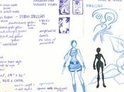 Bocetos Póster Lara Croft