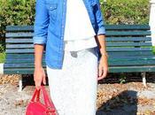 looks falda blanca