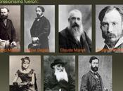 Metraje años antiguedad artistas legendarios Monet, Renoir, Rodin Degas trabajando caminando cerca estudios