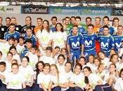 Movistar Inter inaugura Sevilla Gira Megacracks 2015-16 jugando fútbol sala escolares