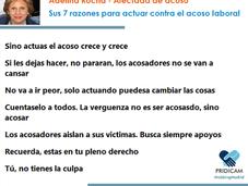 Entrevista Denuncia Adelina Rocha, afectada mobbing. razones para actuar contra acoso