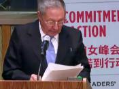 Raúl Castro ONU: igualdad género denuncia pobreza videos]