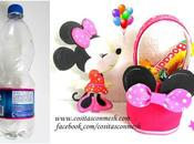 Dulceros Minnie Mouse botellas recicladas