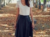 Falda cuero otoño