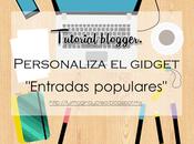 """Personalizar gidget """"Entradas Populares"""""""