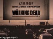 caminantes walking dead llegan carrefour patio