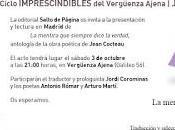 """Presentación Madrid Mentira siempre dice Verdad"""" Jean Cocteau"""