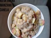 Gachas avena oatmeal manzana canela