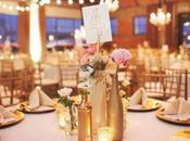 Centros mesa llenos purpurina