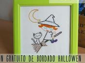 Patrón gratuito: bordado Halloween Free pattern: embroidery