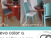 DIY. Sillas antiguas teal