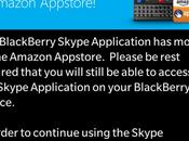 aplicación Skype para BlackBerry sido movida tienda aplicaciones Amazon