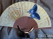 """Abanico """"mariposa azul"""""""