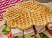 Gofres salados forma sandwich