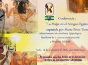 "Conferencia sobre mujer Antiguo Egipto"""