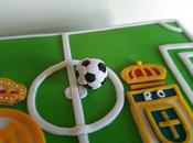 Paso paso Balón fútbol fondant