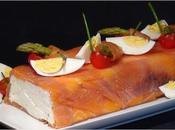 Pastel queso salmón ahumado