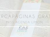 Miss Agenda Limón: Marcapáginas imprimibles gratuitos