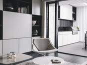 Serenidad blanco negro, diseño interior apartamento Nueva Zelanda