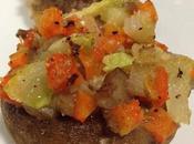 Champiñones rellenos verdura, cena ligera