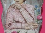 Galleta decorada, mujer vintage