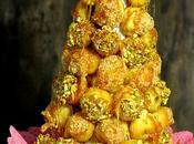 Croquembouche salado roquefort pistachos (#cookingthechef)