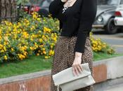 Looks falda midi animal print