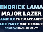 DeMarco, Jamie Kendrick Lamar, primeros artistas confirmados para 2016