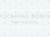 Cuatro tipografías navidad