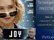 Concurso JOY, consigue entradas para preestreno Madrid