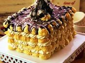 Turrón Choux cake