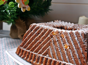 Bundt cake turrón chocolate crujiente