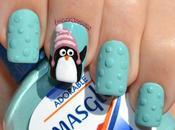 Nail Adorable Pingüino Navideño
