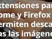 Extensiones para Chrome Firefox permiten descargar todas imágenes sitio