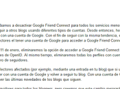 Cambios Google Friend Connect Blogging
