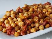 Garbanzos fritos chorizo